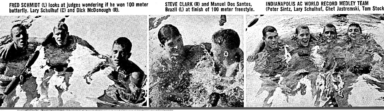Foto da revista Swimming World de 1961
