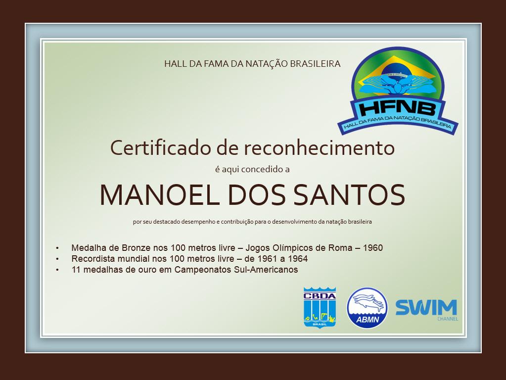 Certificado Manoel dos Santos